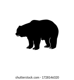 Bear silhouette draw illustration black polar
