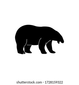 Bear silhouette mouth open icon illustration