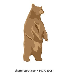 Bear standing up illustration. Rasterized copy.