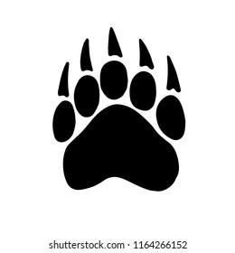 the bear's tracks. raster illustration