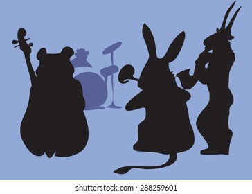 Beasts musicians. Allegory, illustration