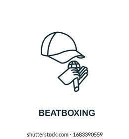 Beatboxing icon from hobbies collection. Simple line element Beatboxing symbol for templates, web design and infographics
