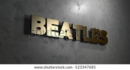 Beatles Gold sign mounted