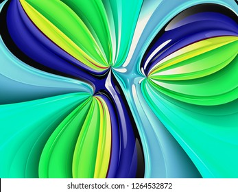 Beautiful abstract background for art projects, cards, business, posters. 3D illustration, computer-generated fractal