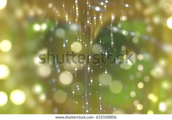 beautiful abstract background gold bokeh circles. Christmas background. romantic illustration