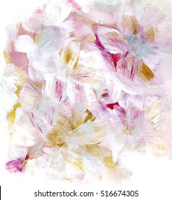 Beautiful abstract background with white flowers, card design