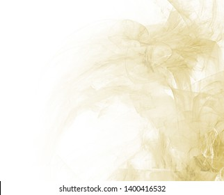 Beautiful abstract fractal background. White faded page side.