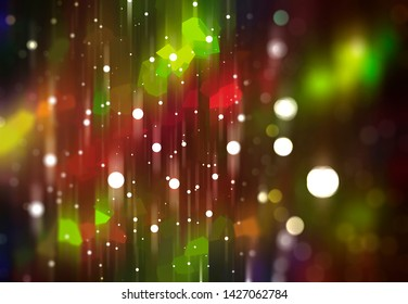 Beautiful abstract multicolored bokeh background. Illustration for design.