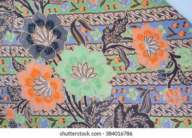 The beautiful of art Malaysian and Indonesian Batik Pattern