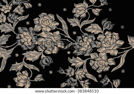 The beautiful of art Malaysian and Indonesian Batik Pattern