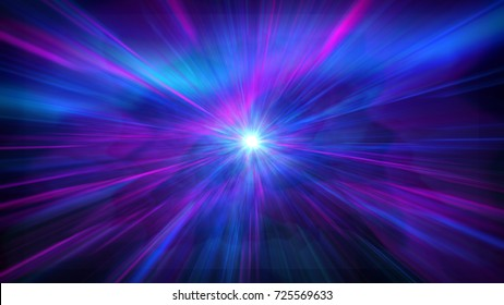 Beautiful aurora pink and blue abstract background with lens flare
