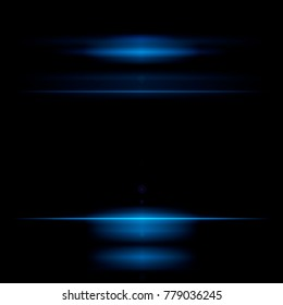 A beautiful blue flash. Glowing abstract sparkling background. Light wallpaper effect. Fragment of shine. A new gala. Lens effects. Wave light.