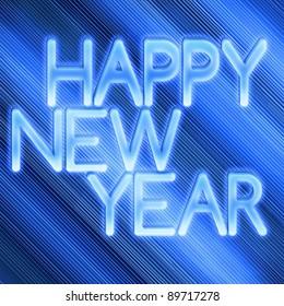 Beautiful blue New year background