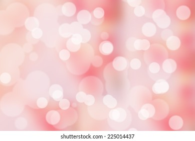 beautiful bokeh on pink background . colorful style.
