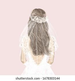 Watercolour Wedding Dress Images Stock Photos Vectors Shutterstock