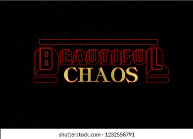 The beautiful chaos illustration
