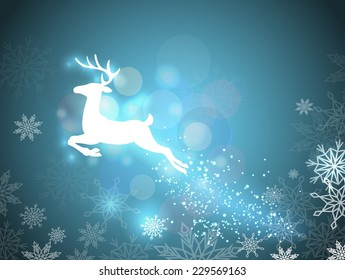 Beautiful Christmas background with reindeer