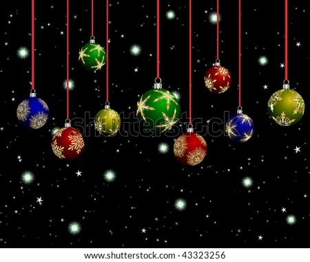Beautiful Christmas Background Design.Beautiful Christmas New Year Background Design Stock