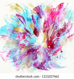 Beautiful colorful abstract painting