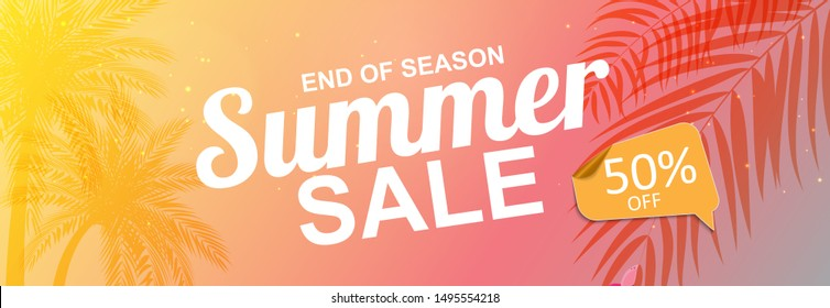 beautiful Colorful Abstract Summer Sale Background. Illustration