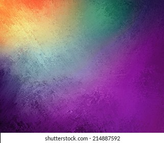 beautiful colorful background design, textured rainbow of color stripes with grunge paint illustration, stripes of orange yellow green and blue and purple pink