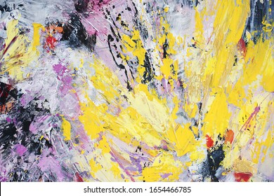 Beautiful colorful sunny hand painted abstract background