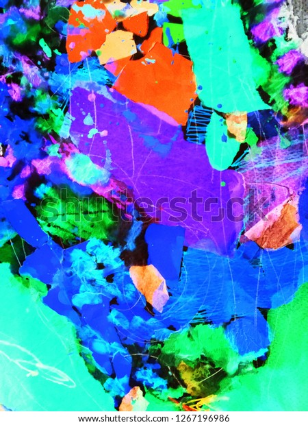 Beautiful Composition Colorful Abstract Expressionism Art