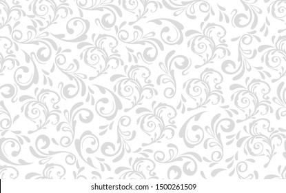 Beautiful damask pattern. Royal pattern with floral ornament. Seamless wallpaper with a damask pattern.