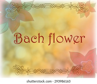 Beautiful design Bach flowers in natural background