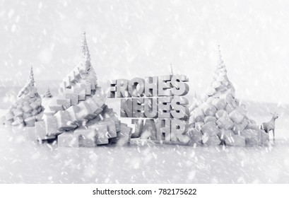 Beautiful Deutschland Happy New Year. 3D illustration