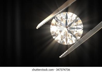 Beautiful diamond 3d rendering.