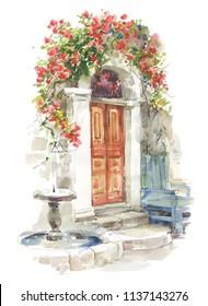 beautiful doors in house in garden