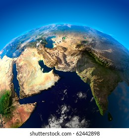 Beautiful Earth - Arabian Peninsula and India from space