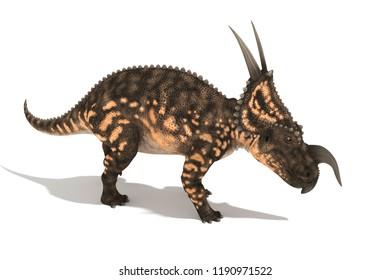 beautiful einiosaurus series of angles 3D illustration