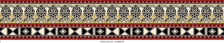 A beautiful Ethnic style border design iIllustration handmade artwork