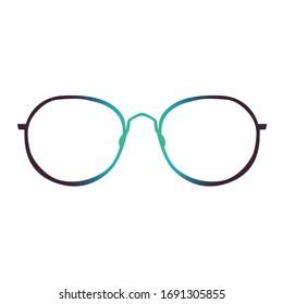 Beautiful Eyeglasses isolated on white background
