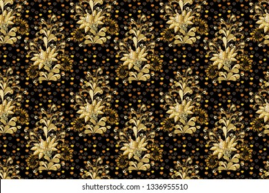 Beautiful fabric pattern. Cute floral background. Seamless pattern in small flower. Raster illustration.