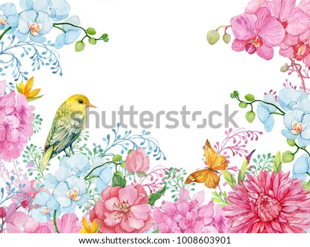 Beautiful Floral Background Greeting Cards Design Stock Illustration ...