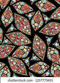 beautiful floral pashmina shawl design for textile and digital print