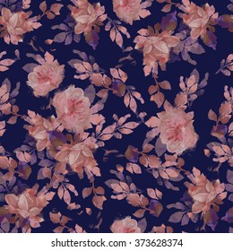 beautiful floral print design textiles illustration. ornament floral pattern. flowers leaves seamless.