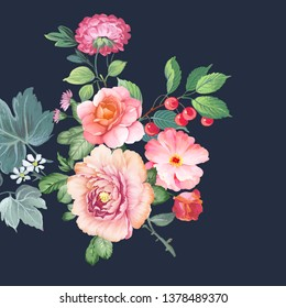 Beautiful  flowers for your design and greeting cards for the holiday