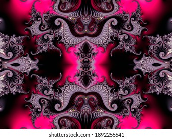 Beautiful fractal. Computer generated image. Fractal background. Abstract spirals. Seamless pattern. Beautiful background for greetings card, flyers, invitation, posters, brochure, banners, calendar.