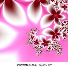 Beautiful fractal flower