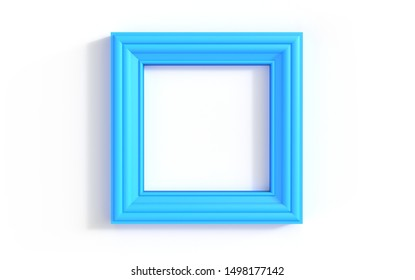 beautiful frame 3d illustration on a white background