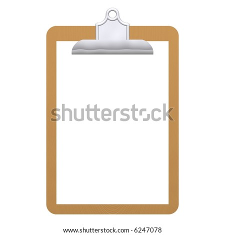 Beautiful Frame Clipboard Isolated On White Stock Illustration ...