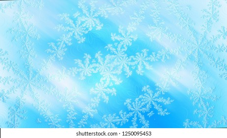 Beautiful frosty window background, this is creative for christmas decoration, 3d rendering background
