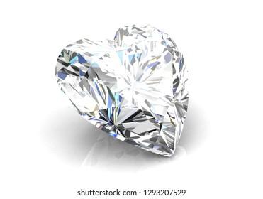 Beautiful gems on a white background , 3D Illustration.3D rendering - Illustration