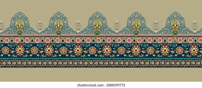 Ein schönes geometrisches Randdesign Illustration handgefertigte Kunstwerke. Hintergrundhandzeichnung. Perfekt für Wickelpapier, Tapete, Stoffdruck