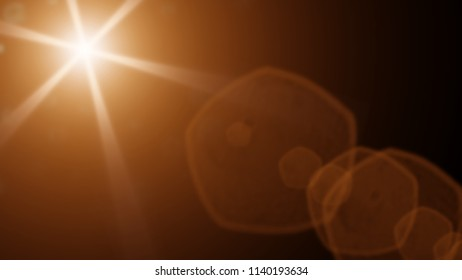 beautiful gold lens flare effect overlay texture with bokeh effect and light streaks in front of a black background