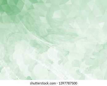 Beautiful green monochrome background with mix of abstract textures generated on computer. Digital collage